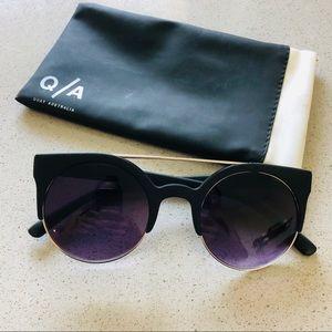 QUAY round small framed sunglasses